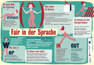Flyer Fair in der Sprache